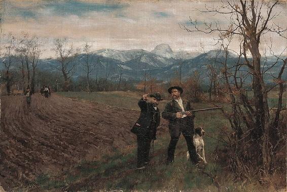 Johann Sperl - Leibl und Sperl auf der