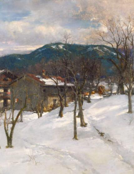 Johann Sperl - Winter landscape near Kutterling