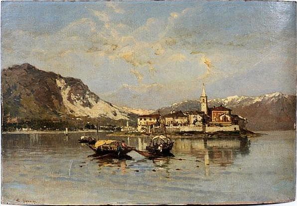 Eugenio Gignous - Paesaggio in laguna