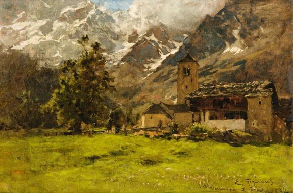 Eugenio Gignous - Macugnaga's church