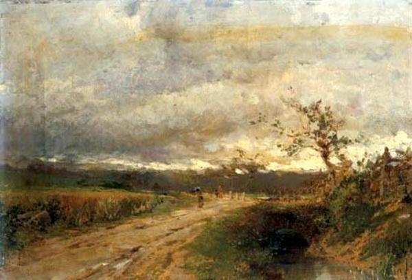 Eugenio Gignous - Sentiero lungo il ruscello