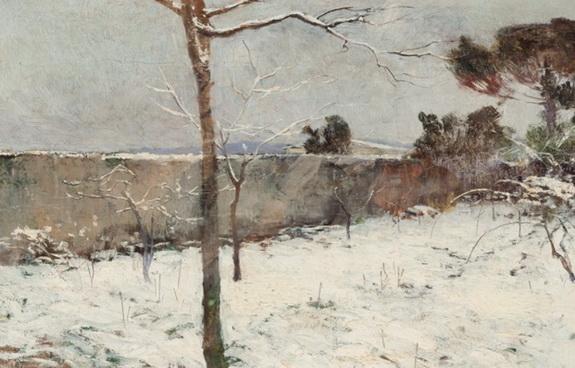 Adolfo Tommasi - Paesaggio invernale