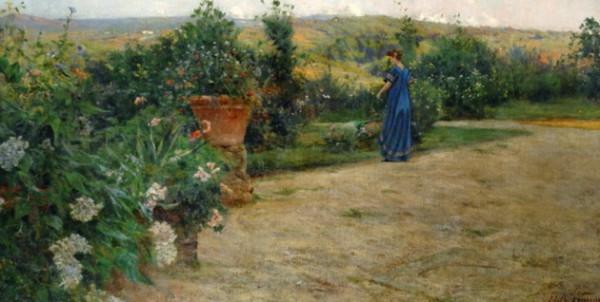 Adolfo Tommasi - Signora in villa