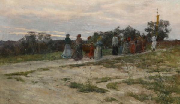 Adolfo Tommasi - Processione dei fiori a Montenero
