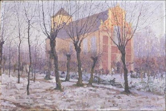 Georges Buysse - De Sint-Catharinakerk in Wondelgem