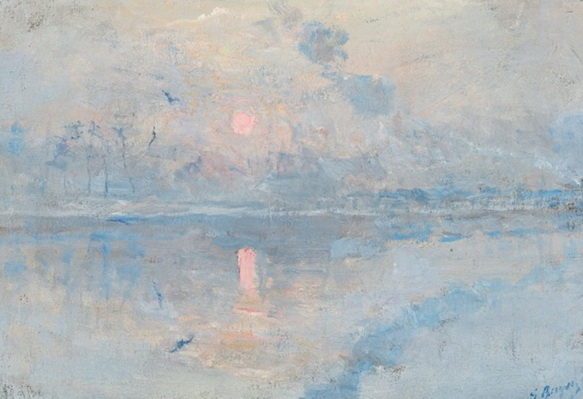 Georges Buysse -  Winter by the River Lys