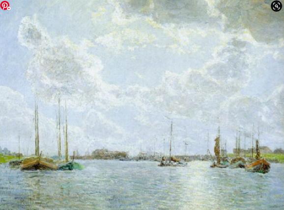 Georges Buysse - Vissersboten te Hansweert