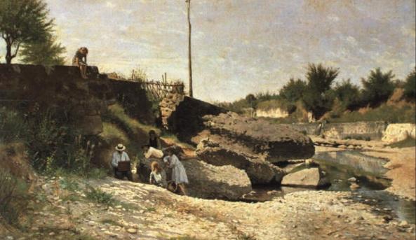Odoardo Borrani - Un matino sul torrente Mugnone