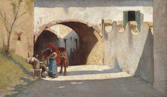 Odoardo Borrani - Strada campestre