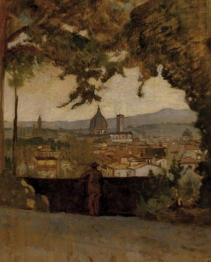 Odoardo Borrani - Panorama di Firenze da Montughi