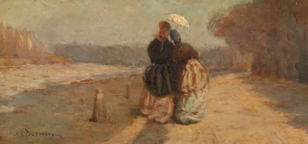 Odoardo Borrani - Deux femmes avec des ombrelles