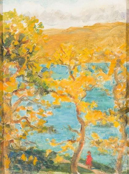 Jessie Constance Alicia Traill - Oak Trees in Spring