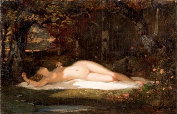 Narcisse  Diaz - Nu dans un sous-bois