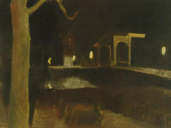 Kees  Maks - Teertuinen bij nacht