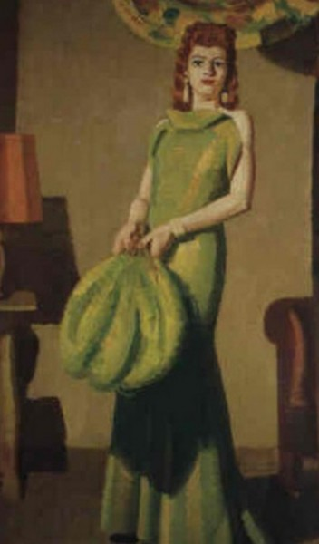 Kees  Maks - A young woman in evening dress