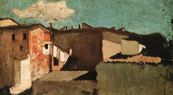 Gioseppe Abbati - Roofs