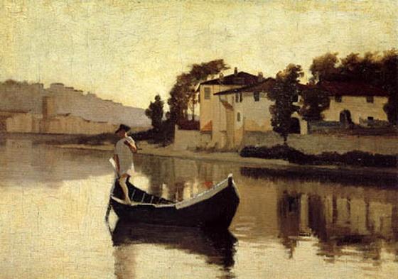 Gioseppe Abbati - Arno near Casaccia