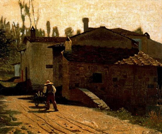 Gioseppe Abbati - Lattaio di Piagentina