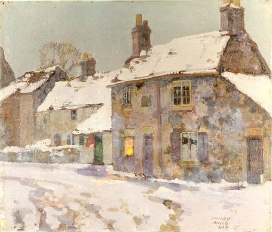 Stanley Royle - Village Street, Winter