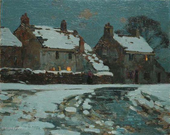 Stanley Royle - Village scene in winter