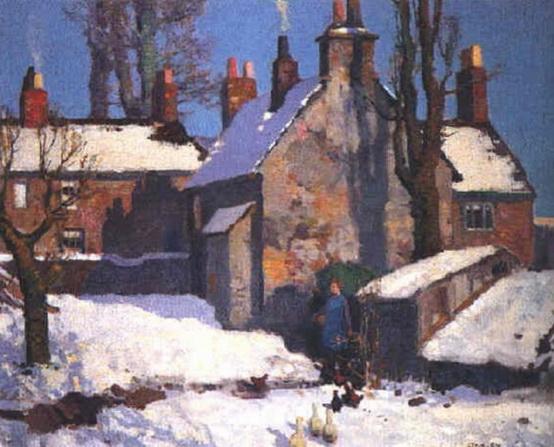 Stanley Royle - Farmyard under the snow