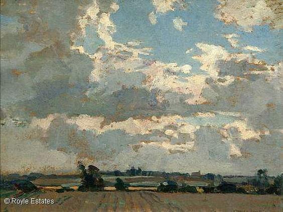 Stanley Royle - Across Fields Towards Letwell