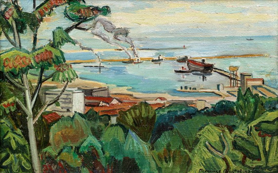 Maurice Boitel - Le port d'Alger
