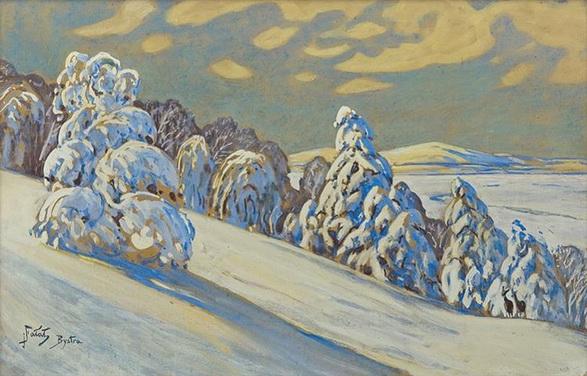 Julian Falat - Winter Landscape from Bystra