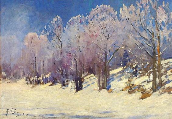 Julian Falat - W zimowym sloncu