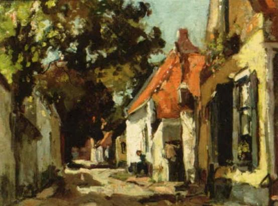 David Oyens - View of a village