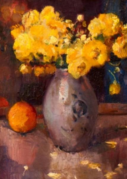 Maurice Wagemans - Stillleben mit gelben Ranunkeln