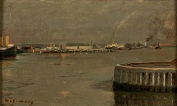 Maurice Wagemans - Vue d'un port