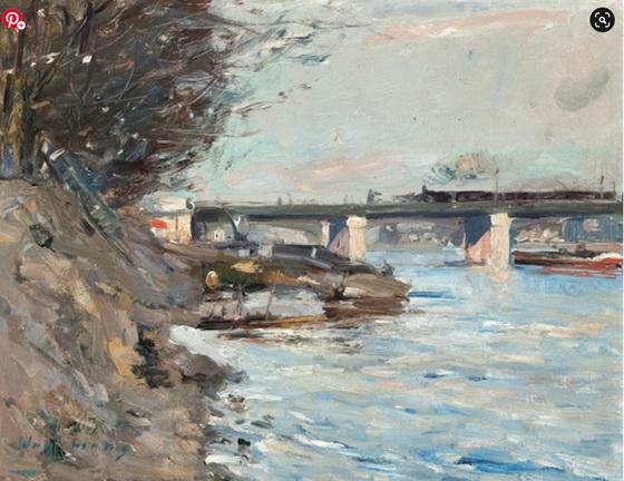 Maurice Wagemans - View of a bridge in Paris
