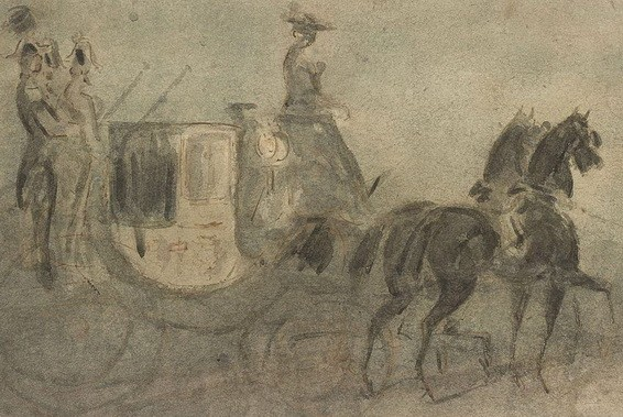 Constantin Guys - a carriage