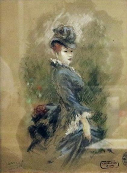 Constantin Guys - Mondane Dame der Belle Epoque