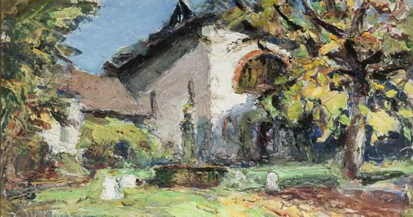 Abbe Cales - La place de Tencin en automne