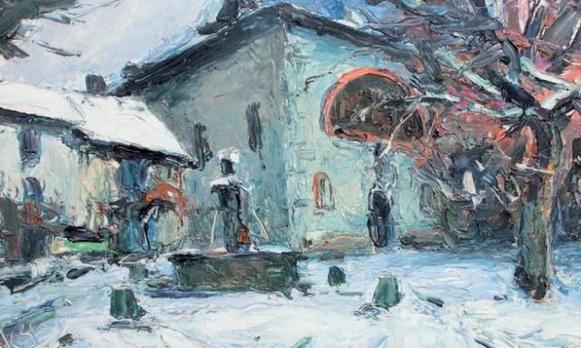Pierre (Abbe) Cales - Fontaine de Tencin sous la neige