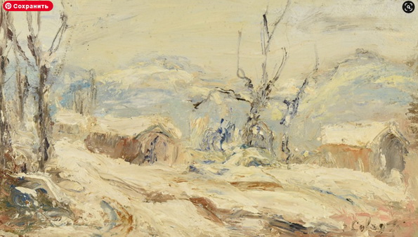 Abbe Cales - Paysage enneige