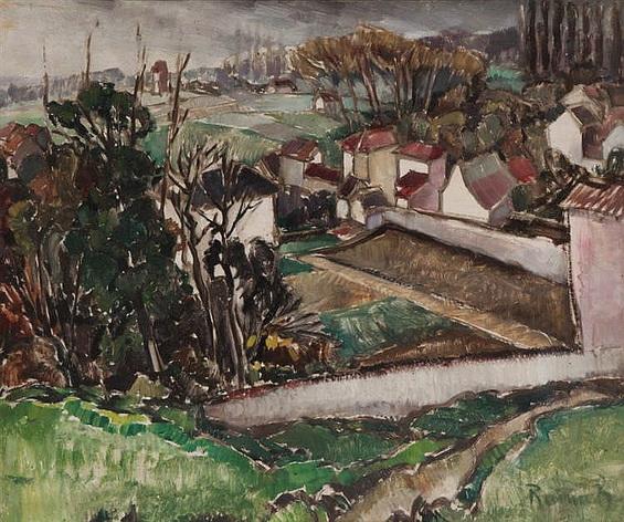 Henri Ramah - Village view