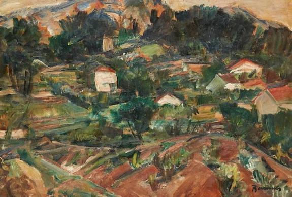 Henri Ramah - Paysage mediterraneen