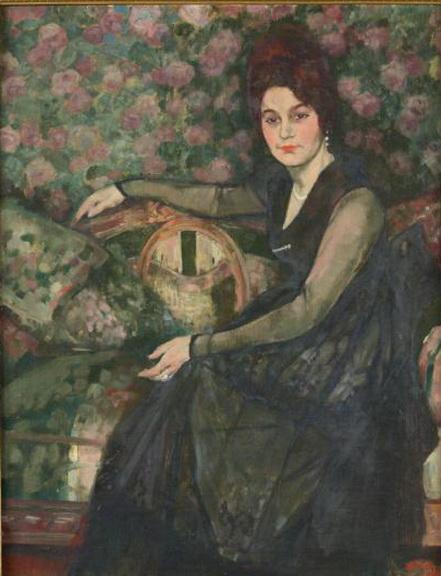 Henri Ramah - Portrait d'une dame de qualite