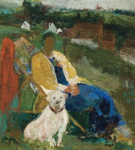 Henri Ramah - Women and dog