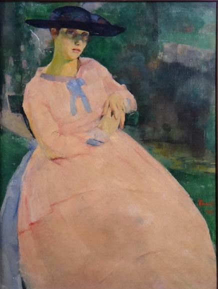 Henri Ramah - The pink dress