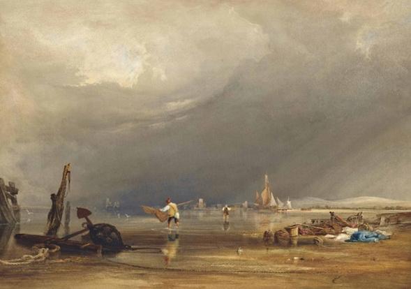 Copley Fielding - Low tide at Shoreham, Sussex