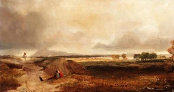 Copley Fielding - Landscape with figures
