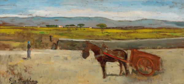 Giovanni Bartolena - Il carro rosso