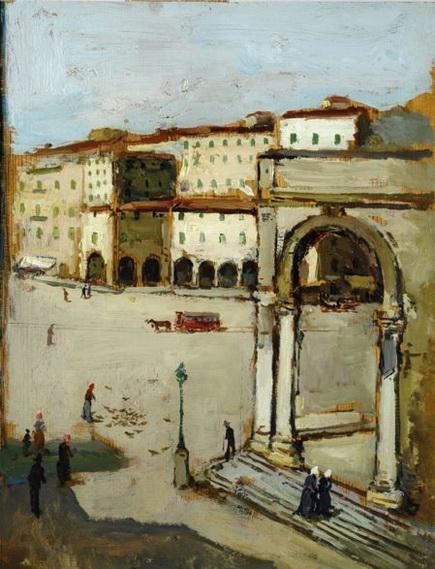 Giovanni Bartolena -  Livorno, Piazza Grande