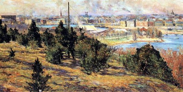 Karl  Nordstrom -  View of Stockholm from Skansen