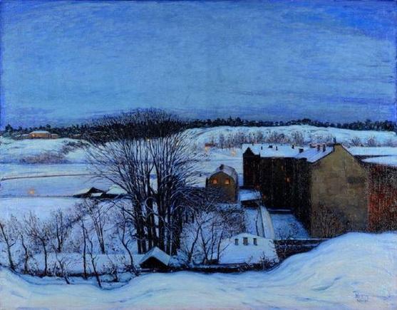 Karl  Nordstrom - Winter Evening at Roslagstull