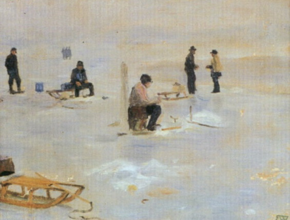 Erik Theodor Werenskiold - Vinterfiske